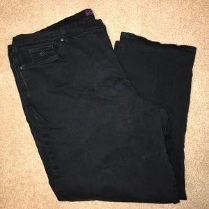 Women's 24W Gloria Vanderbilt Black Amanda Jeans